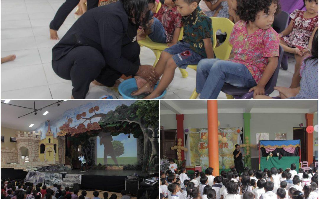 Perayaan Paskah KB Krista Ceria, TK Kridawita dan SD Kristen 3 Klaten