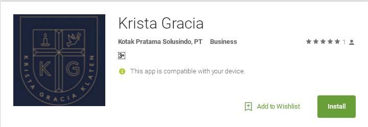 Aplikasi Android Krista Gracia