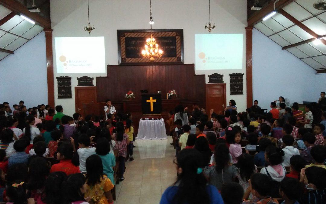 Pelayanan Ibadah persiapan Test Semester Ganjil Bagi Anak-anak SD Kristen 3 Klaten
