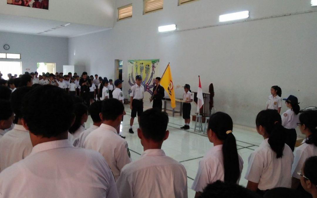 Pelantikan OSIS SMP Kristen 1 Klaten masa bakti 2017-2018